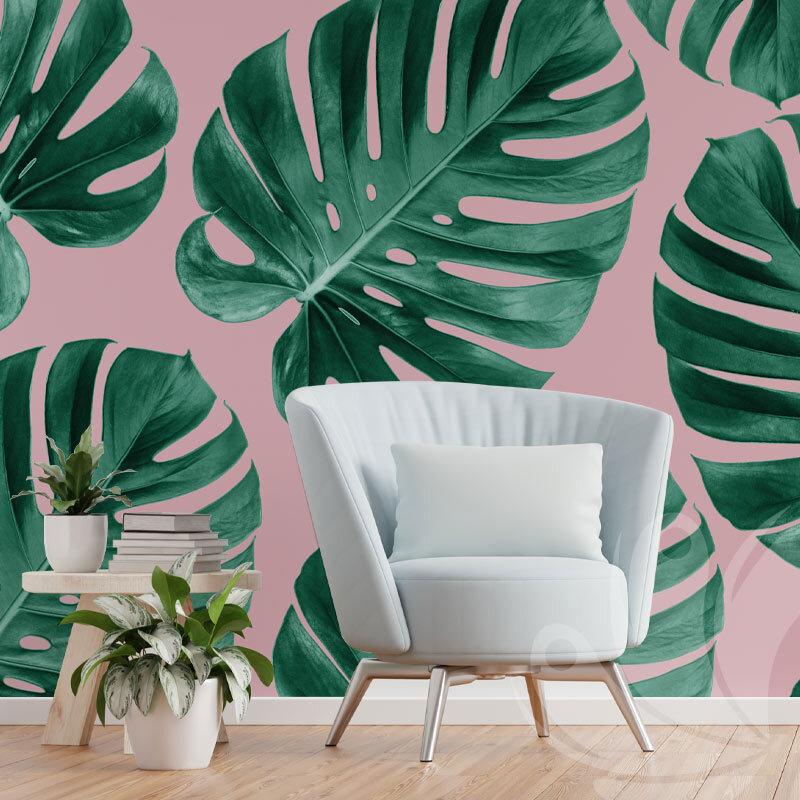 Monstera Green Leaves Wallpaper