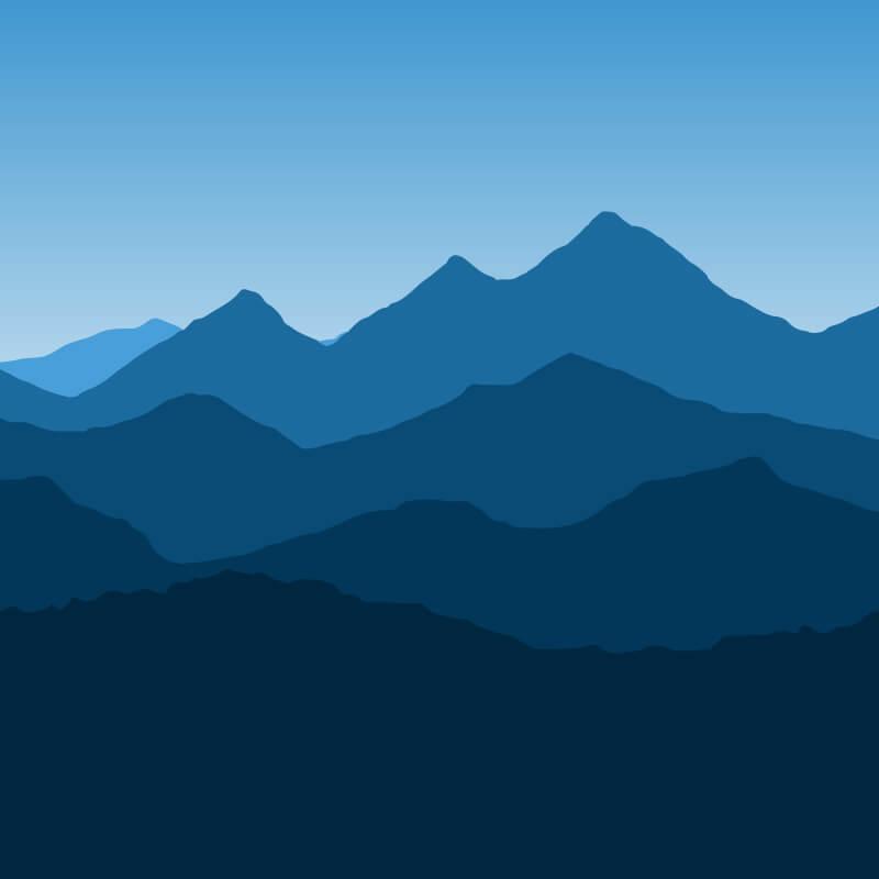 Mountain Landscape Wallpaper Pattern
