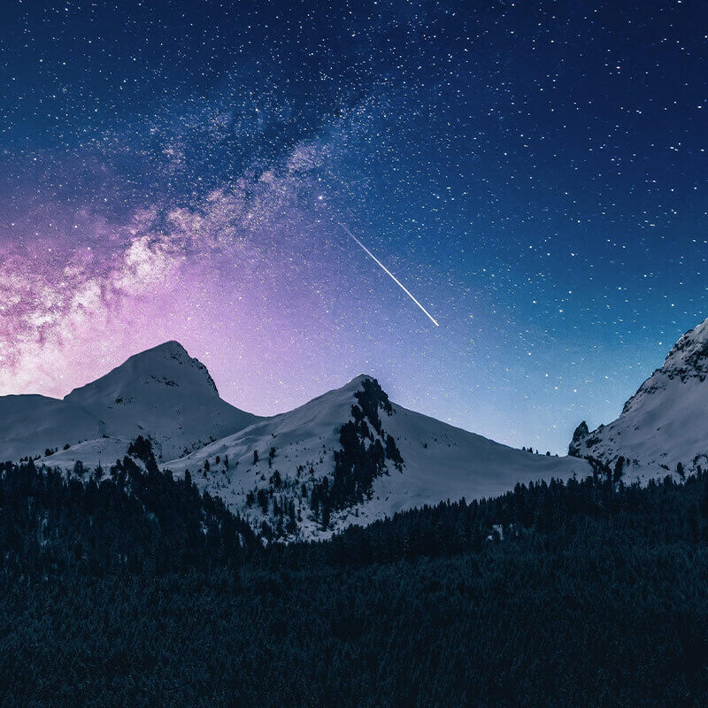 Night Sky Stars Wall Mural