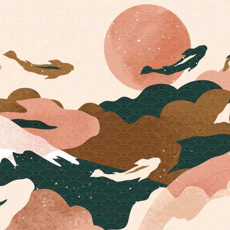 Ocean Wave Wallpaper Pattern
