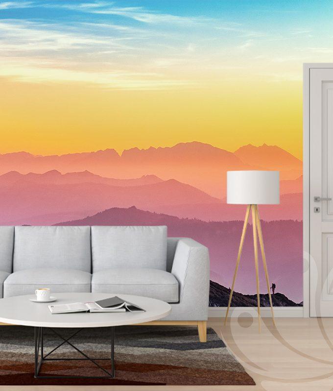 Sunset Haze Wall Mural