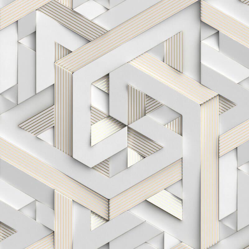 Classic Geometric Wallpaper Pattern