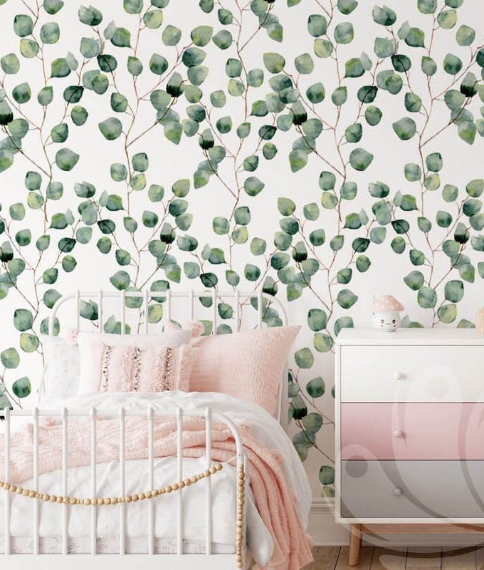 Eucalyptus Leaves Pattern Wallpaper