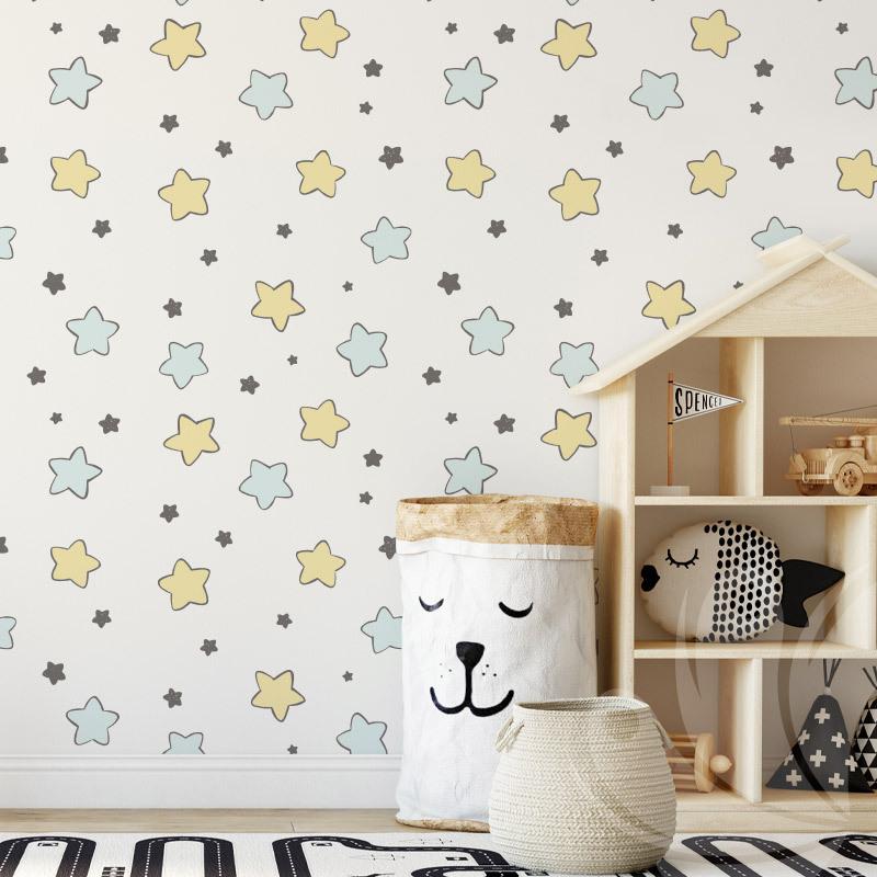 Hand Drawn Stars Wallpaper