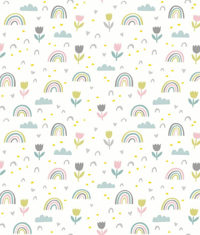 Spring Abstract Rainbow Pattern