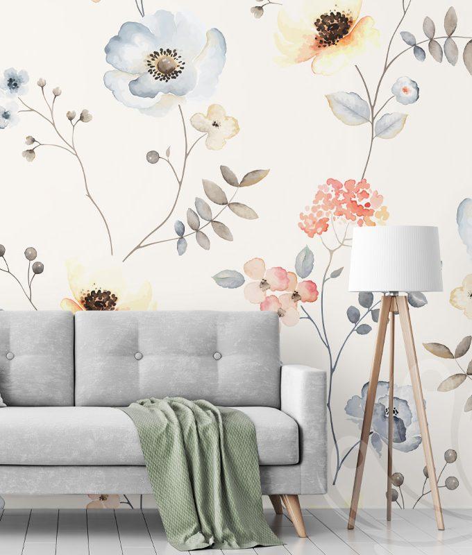 Blossom Flower Seamless Wallpaper