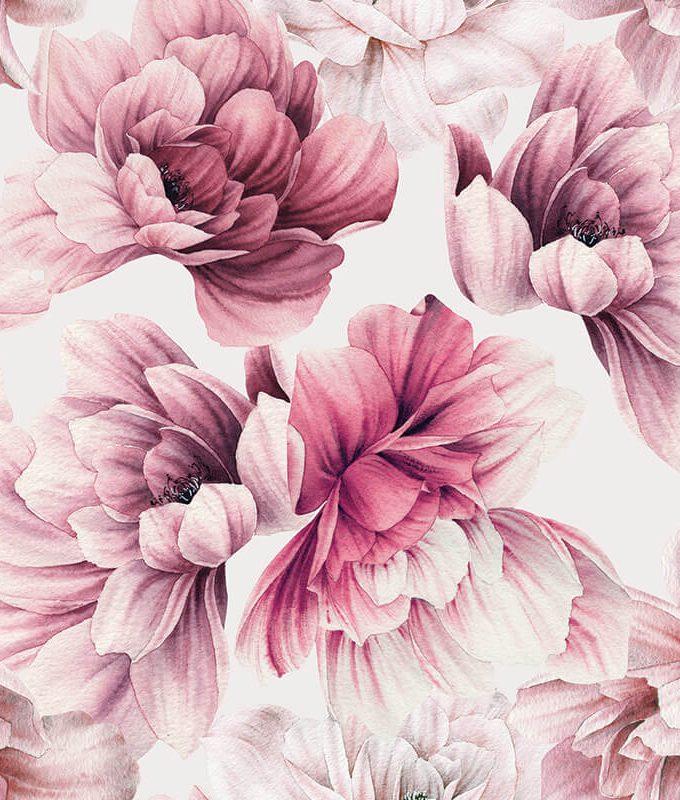 Pink Floral Wallpaper Pattern