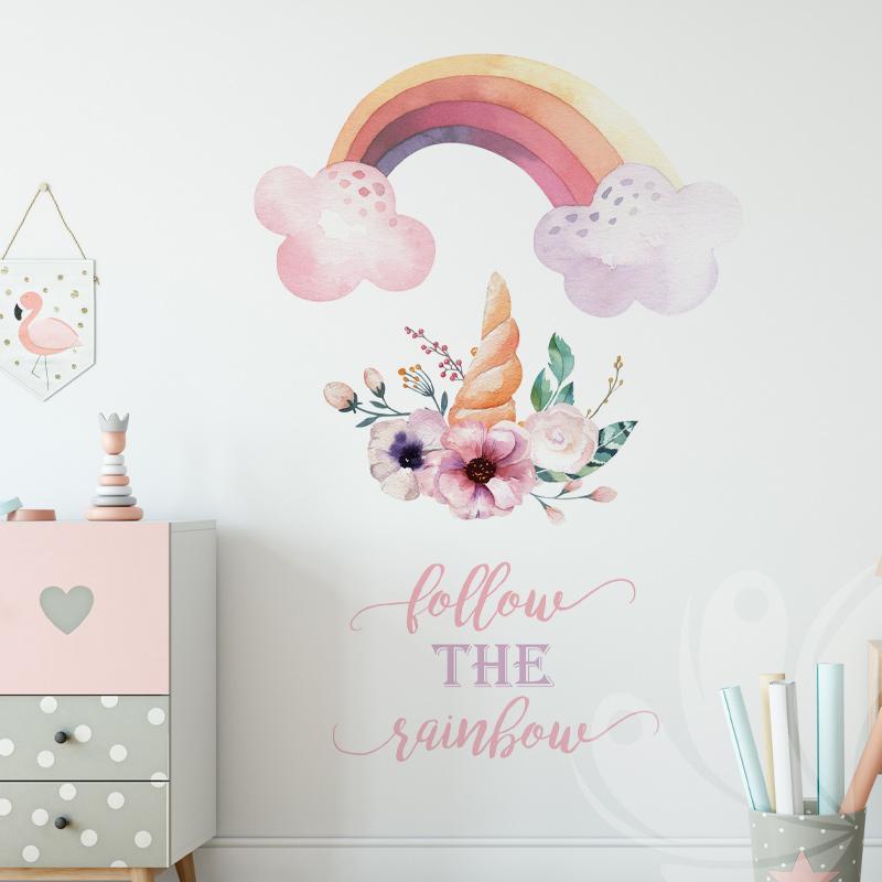 Colourful Rainbow Wall Decal