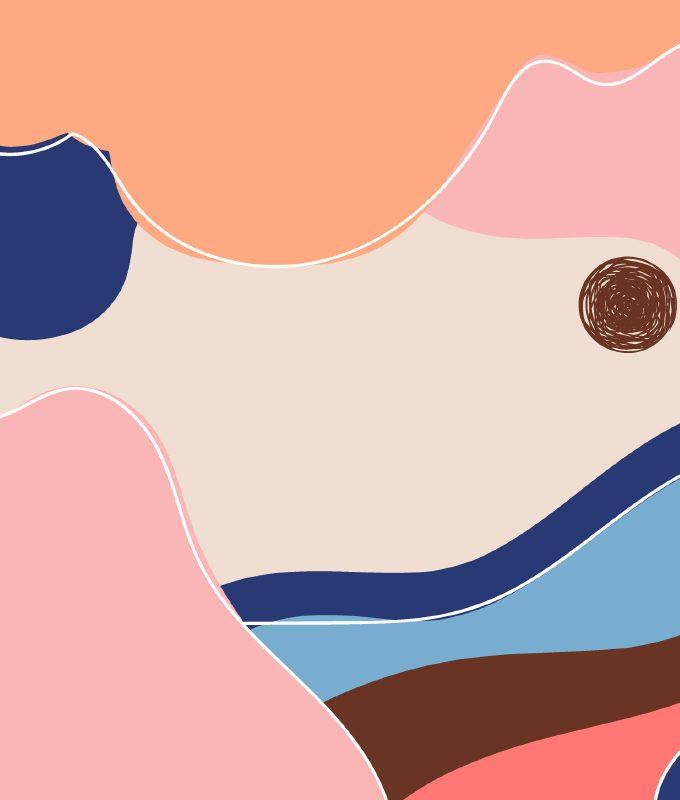 Abstract Flat Art Style Wallpaper