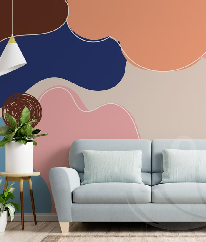 Abstract Flat Style Wallpaper