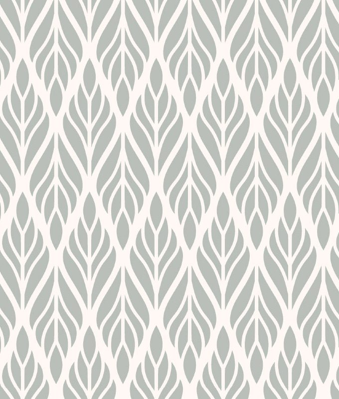 Abstract Leaf Floral Pattern