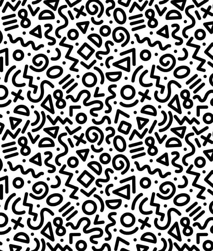 Black White Geometric Pattern