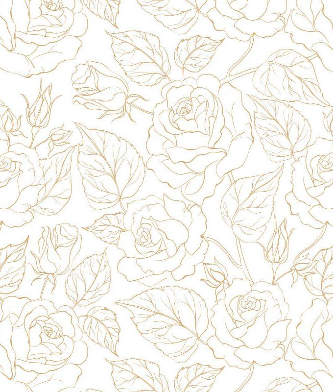 Gold Floral Wallpaper Pattern