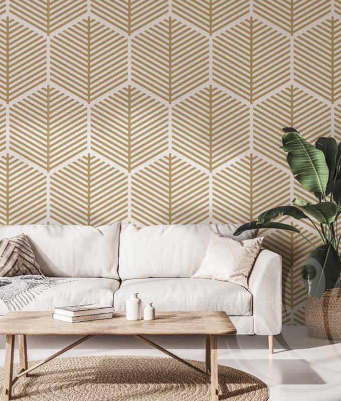 Hexagonal Geometric Wallpaper Pattern