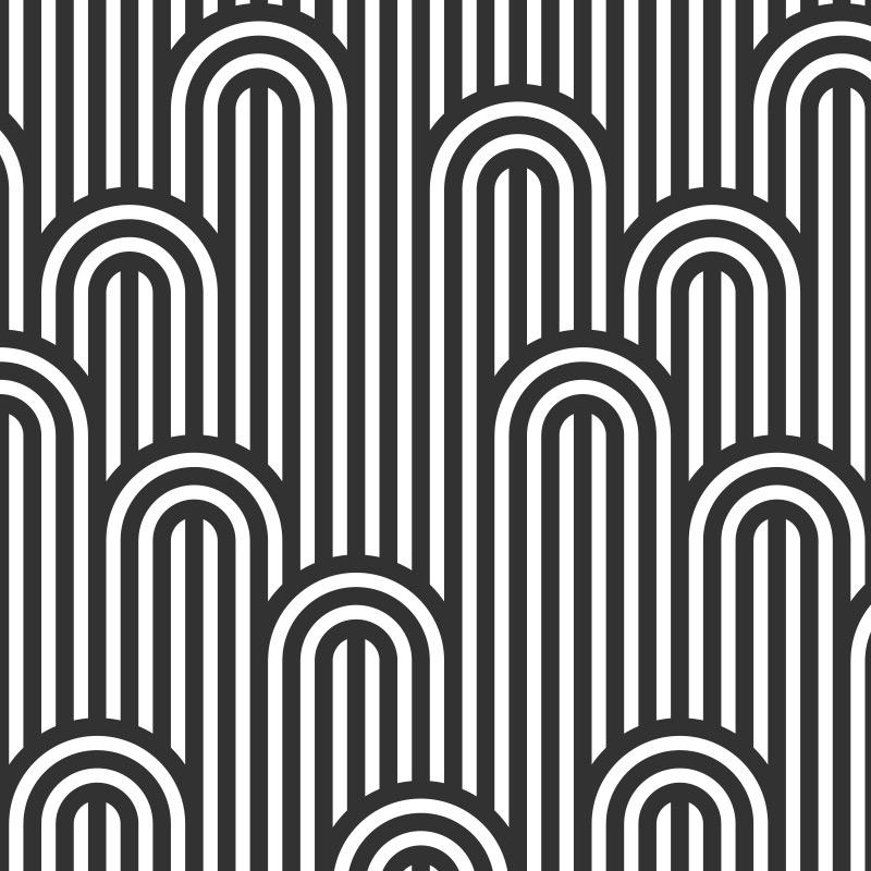 Striped Seamless Black Pattern