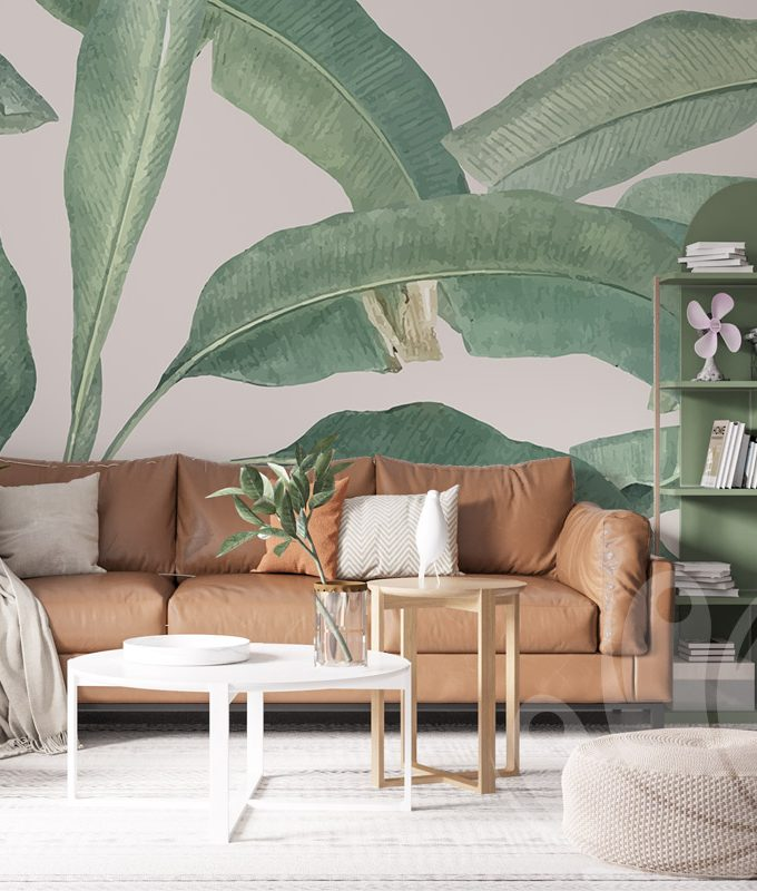 Tropical Tree Leaves Wallpaper