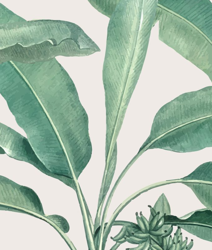 Tropical Tree Leaves Pattern
