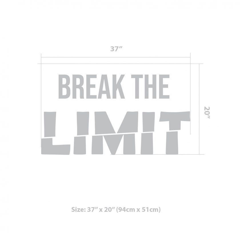Break the Limit Decal Size