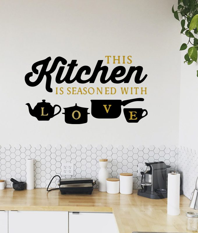 Kitchen Love Wall Decal