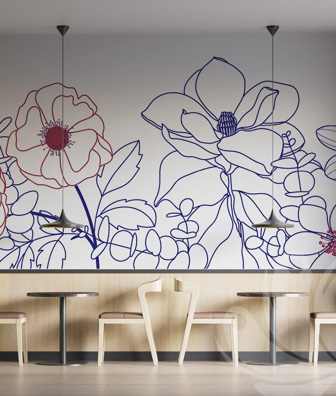 Line Flower Summer Wallpaper