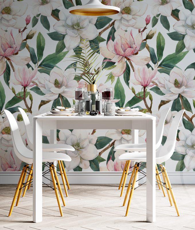 Pink Magnolia Flower Wallpaper