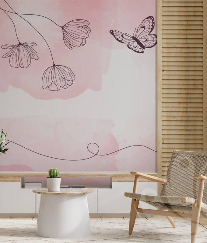 Soft Pastel Flower Wallpaper