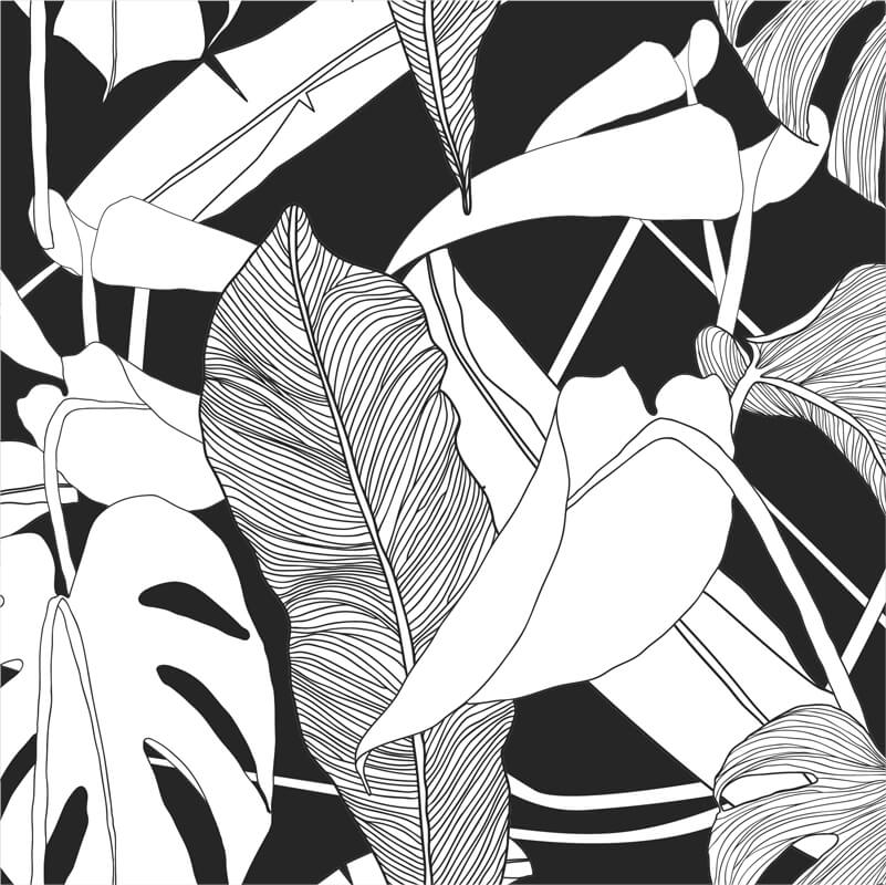 Tropical Exotic Plant Pattern