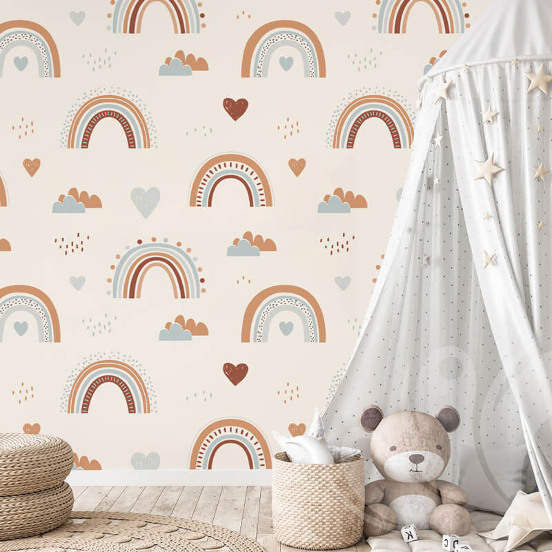 Kids Rainbow Wall Mural