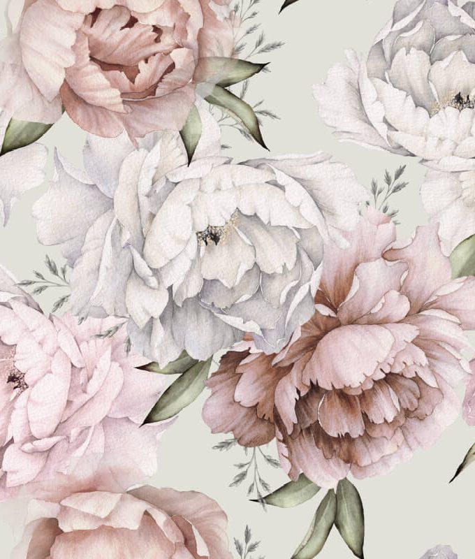 Botanical Floral Wallpaper