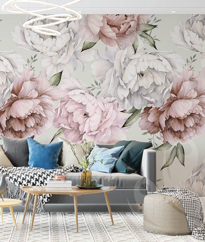 Botanical Seamless Floral Wallpaper