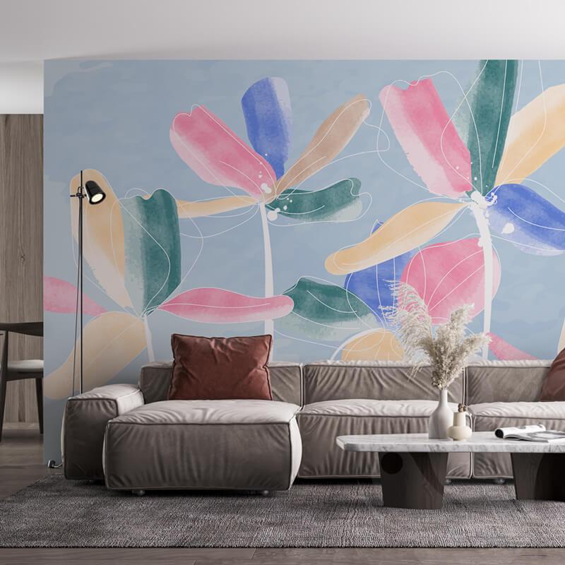 Flower Watercolor Wall Mural