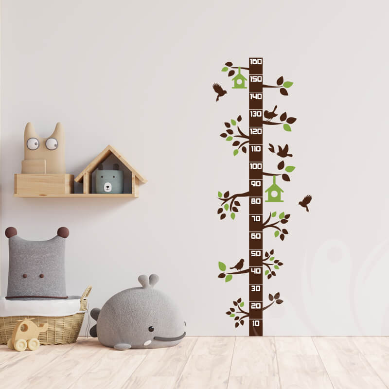 Kids Ruler Tree Wall Decal