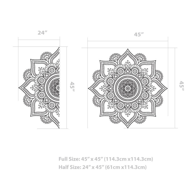 Mandala Flower Wall Decal