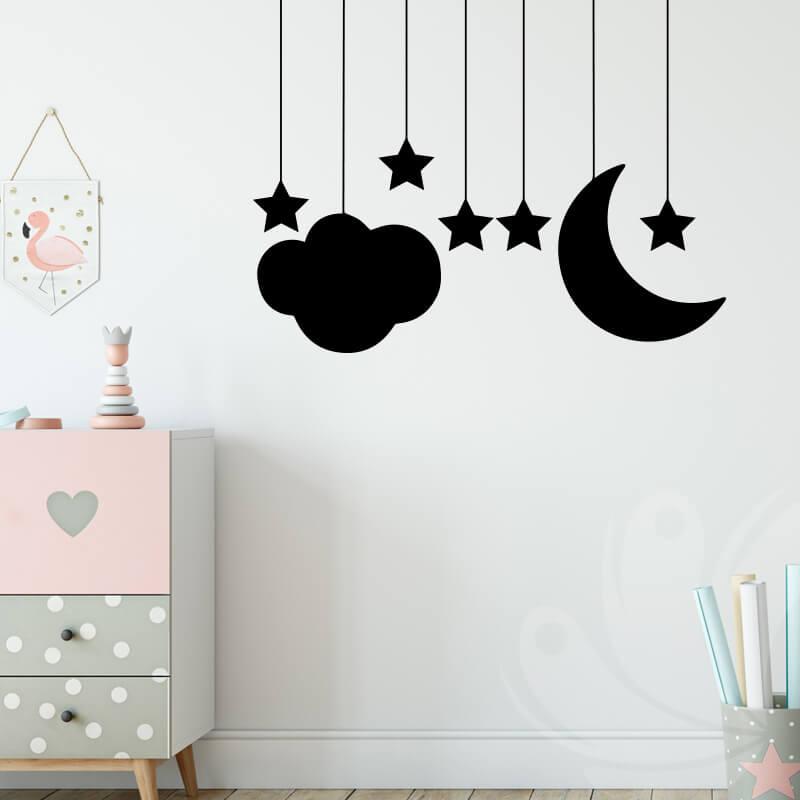 Stars Moon Wall Decal