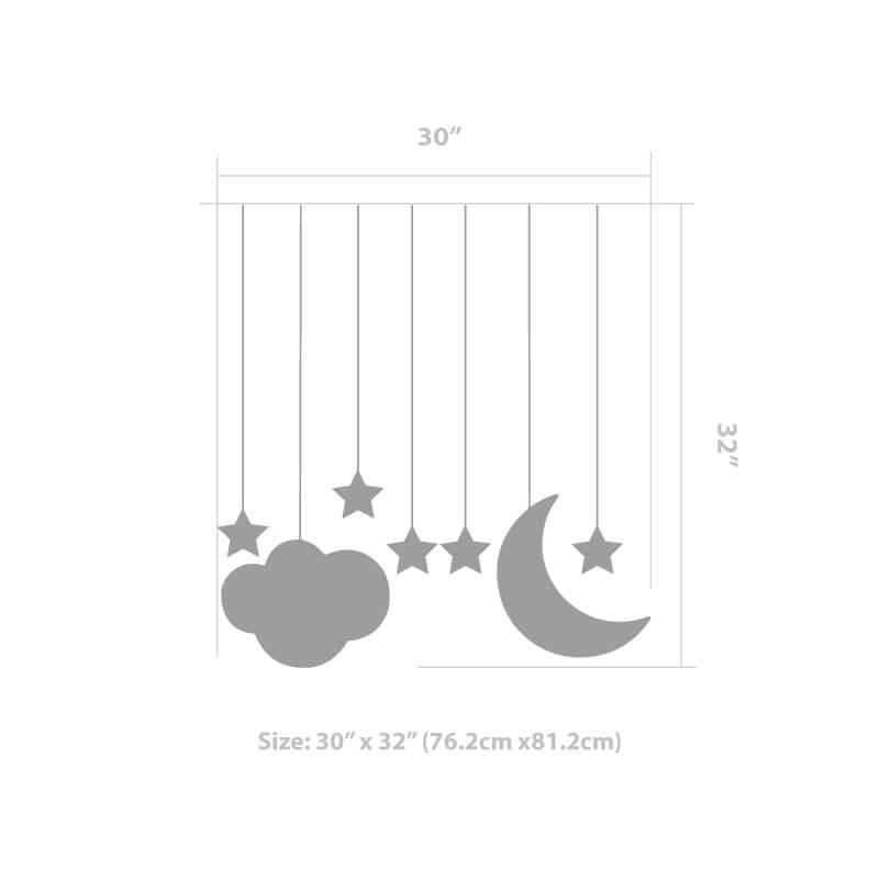 Stars Moon Decal