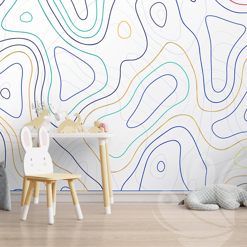 Topographic Map Wall Mural