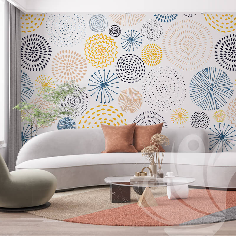 Fireworks Abstract Wall Mural