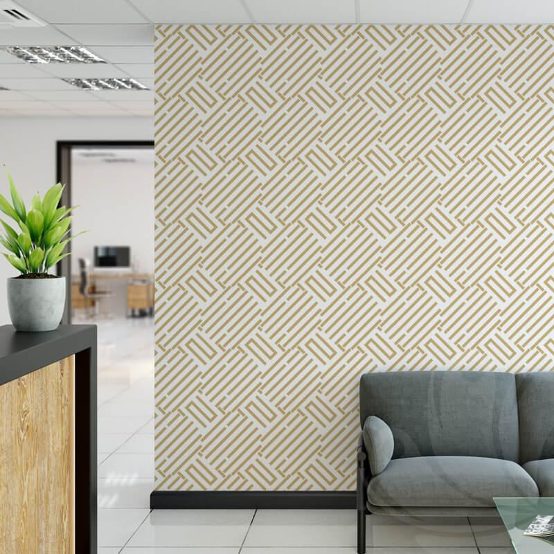 Geometric Gold Pattern Wallpaper