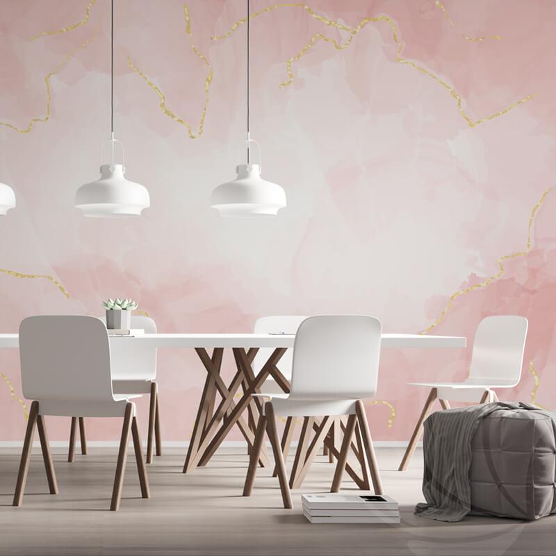 Pastel Rose Marble Wallpaper